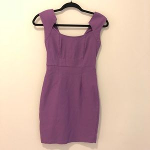 Purple dress with cap sleeves